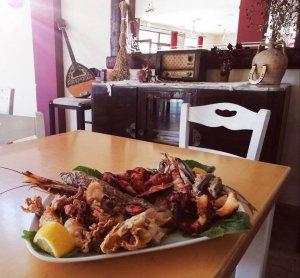 Fresh seafood, Traditional Taverna Agkali, Lefkimmi