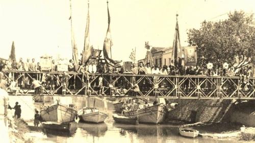 Παλιά φωτογραφία από το ποτάμι Λευκίμμης, Κέρκυρα