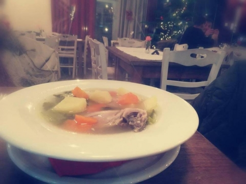 Warm soup for winter nights, Agkali, Lefkimmi Corfu