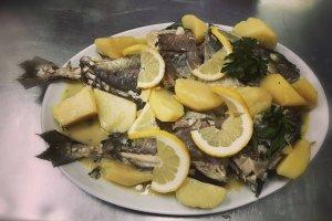 Fresh fish bianco, Traditional Taverna Agkali, Lefkimmi